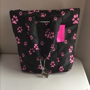 Betsey Johnson large puppy paws tote